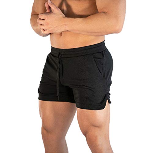 KFT Summer Running Shorts Men Sports Jogging Shorts Quick Dry Gyms Beach Short Pants Black XXL