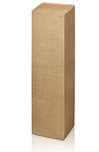 10 Stück Weinkarton, Weinverpackung, Flaschenkarton - Fineline Gold Faltschachtel für eine Flasche Wein/Sekt (Gold)