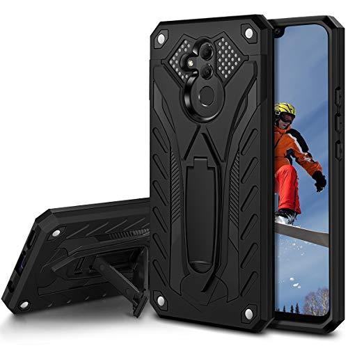 Coolden Huawei Mate 20 Lite Hülle,Rugged Outdoor Stoßfest Schutzhülle mit Ständer Dual Layer Hard PC + TPU Bumper Handyhülle für Huawei Mate 20 Lite (Schwarz)