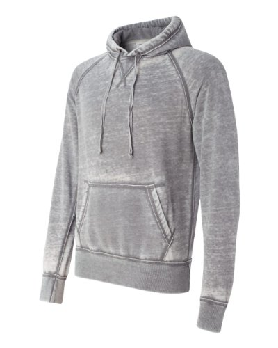 Vintage Distressed Pullover Hooded Sweatshirt- Cement Gray