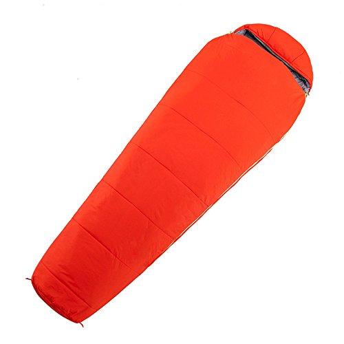 QFFL shuidai Sac de Couchage Momie/Coton / lumière Portable/Camping en Plein air randonnée/idéal 4 Saisons Sac de Couchage 215 * 76 (35) cm (Couleur : Red)
