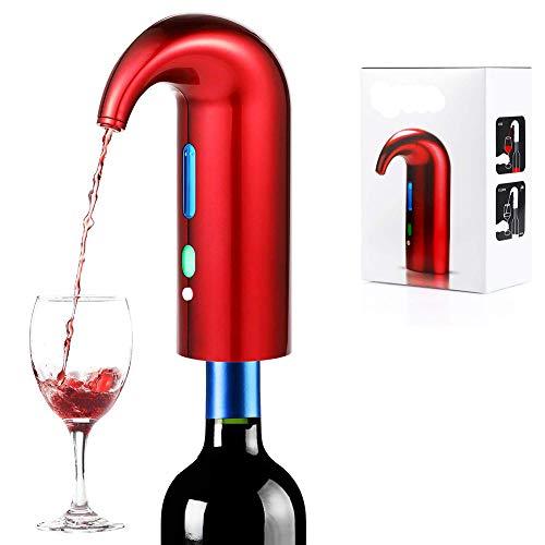 QNMM Elektrischer Weinbelüfter und -Spender - Dekantiert und schenkt Rot- und Weißwein EIN, passend für die meisten Flaschen, batteriebetrieben