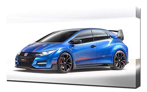 Lilarama 2014-Honda-Civic-Type-R-Concept-V6-1080 - Art Leinwandbild - Kunstdrucke - Gemälde Wandbilder
