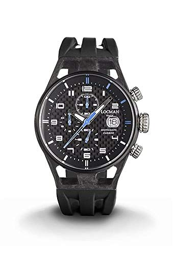 Locman Montecristo Carbon/orologio uomo/quadrante carbonio/cassa carbonio e titanio/cinturino...