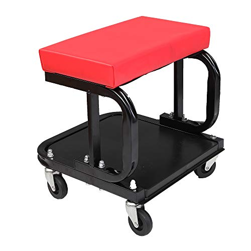 Rolling Mechanic Seat Rolling Seat Creeper Padded Chair with Tray for Repair Shop Garage