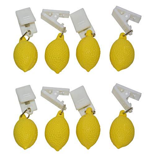 all-aro&24 Tischdeckenbeschwerer Tischtuchbeschwerer Tischdeckenklammer Tischdeckenhalter (8 Stück - Zitrone)