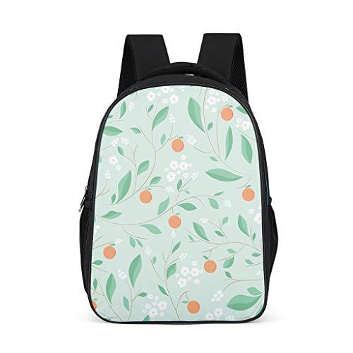 Fineiwillgo Mochila con diseño de hojas verdes, color gris brillante, talla única