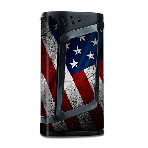Skin Decal Vinyl Wrap for Smok Alien 220w TC Vape Mod stickers skins cover/ American Flag distressed
