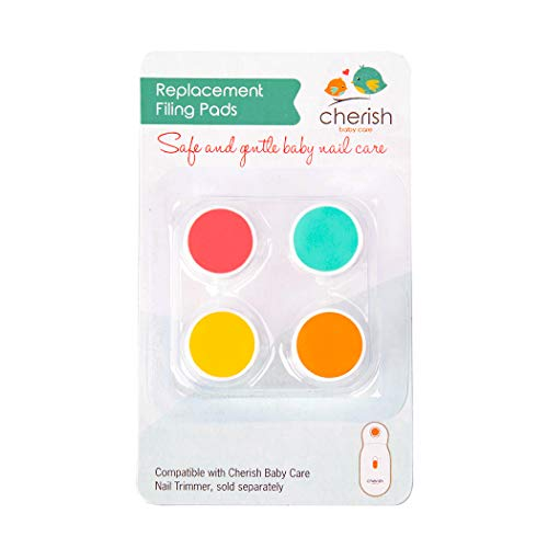 Cherish Baby Care - Pastiglie di ricambio per raschietto elettrico per neonati, 4 dischi per limare i colori per neonati e bambini.