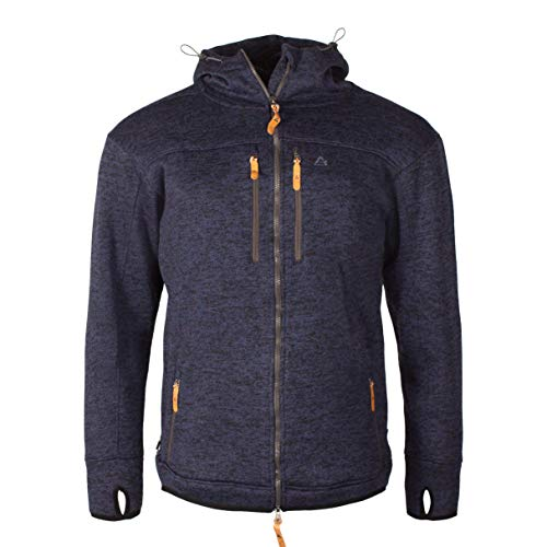 Garphyttan Original Fleece Jacke Herren Full Zip Daumenloch Outdoorfleece für Outdoor Wandern Trekking Camping - XXL, Marine