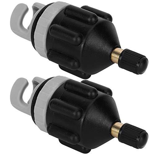 T-Day Cabezales adaptadores de inflador, Cabezales adaptadores de Bomba de Aire, 2 uds.(Negro)