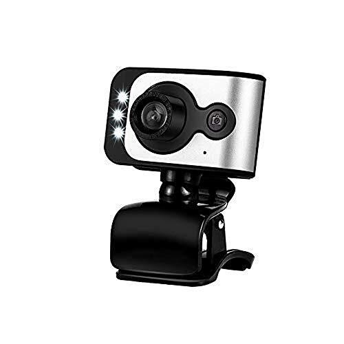 Wdonddonsxt webcam USB externo HD Webcam, escritorio portátil todo-en-uno de alta definición HD Webcam de belleza, Dedicado vídeo en directo HD Webcam for la clase, con el micrófono Micrófono Convenie
