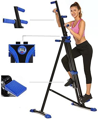 Mauccau 2021 New Upgrade Vertical Climber Machine Home Gym Exercise Folding Climbing Machine Fitness Stepper for Whole Body Cardio Workout Training (Blueblack)