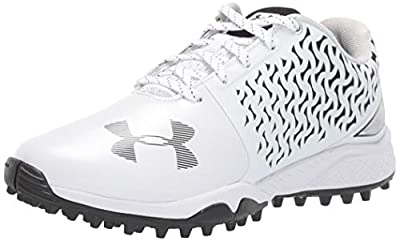 Under Armour Women's Finisher Turf Lacrosse Shoe, White (101)/Black, 9