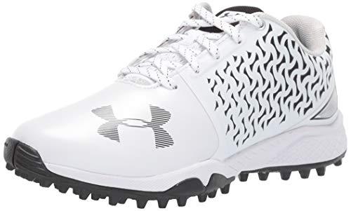 Under Armour Women's Finisher Turf Lacrosse Shoe, White (101)/Black, 11