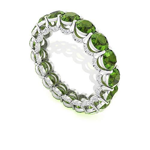 Rosec Jewels 18 quilates oro rosa redonda round-brilliant-shape H-I Green Diamond Peridot