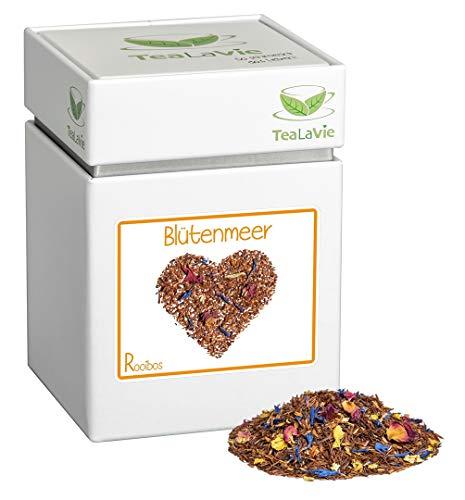 TEALAVIE - Rooibos Tee lose | Blütenmeer - Zitrone mit Grapefruit | 100g Dose loser Rotbusch Tee aus Südafrika
