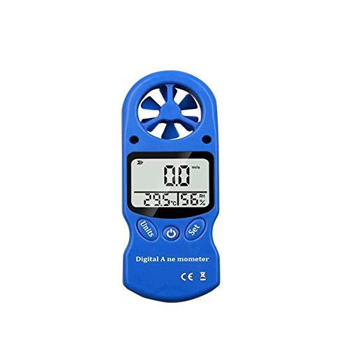 Instrumento de velocidad del viento Anemómetro digital al aire libre Medidor de velocidad de velocidad del anemómetro con pantalla LCD para medir la velocidad del viento, la temperatura y el enfriamie