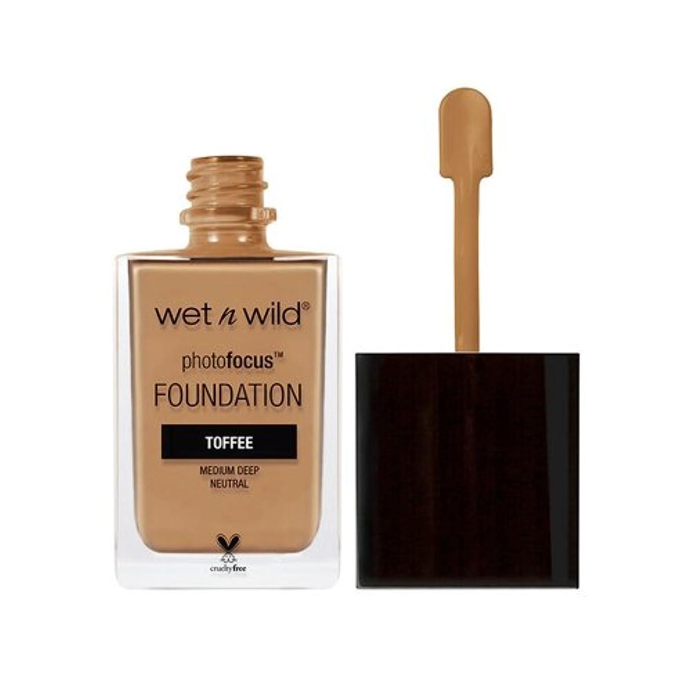 封筒小石振りかける(3 Pack) WET N WILD Photo Focus Foundation - Toffee (並行輸入品)