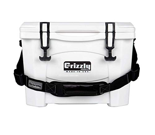 Grizzly 15 Cooler, White, G15, 15 QT