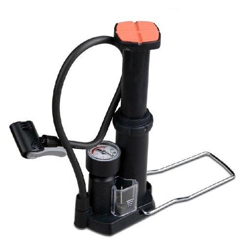 TOPCABIN Mini pompa a pedale, con doppia uscita, universale, portatile, per bicicletta, per valvole Schrader, Presta e Woods