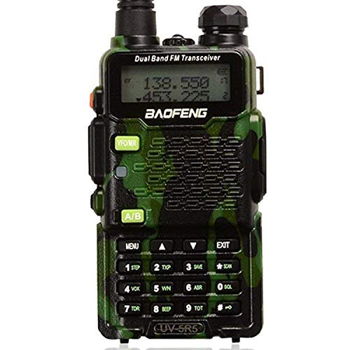 BaoFeng GT-5TP 8W//4W//1W Tri-Power UHF VHF Dual Band Amateur Ham Radio Handheld Two Way Radio Walkie Talkie with Earpiece Dual PTT 2000mAh Battery