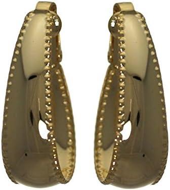 Blithe Gold tone Hoop Clip On Earrings
