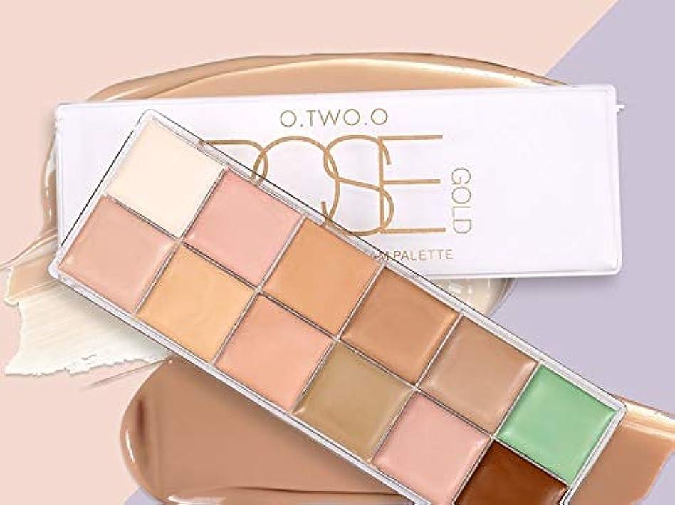 日装備する前文Ni Yom Thai shop Concealer Palette 12 Color Makeup Green Concealer Foundation Waterproof Brightener Makeup Highlighter Contour Cosmetics