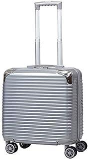 キャリーケース トランクケース スーツケース 30L アルミフレームタイプ TSAロック 17インチ 360度回転8輪Wキャスター シルバー