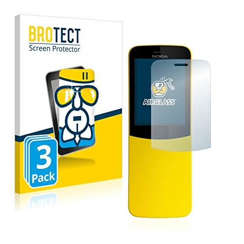 BROTECT Panzerglas Schutzfolie kompatibel mit Nokia 8110 (3 Stück) - AirGlass, extrem Kratzfest, Anti-Fingerprint, Ultra-transparent