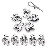 10 abrazaderas M6 de cuerda de alambre para abrazaderas de acero inoxidable 304 M6 disponi...