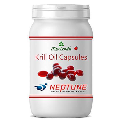 MoriVeda® Neptune Krillöl 90 Kapseln mit hochwertigem Omega 3 Öl, Astaxanthin, Antioxidantien & Vitamin E I Zertifiziert durch USDA, ISO, MSC, FOS