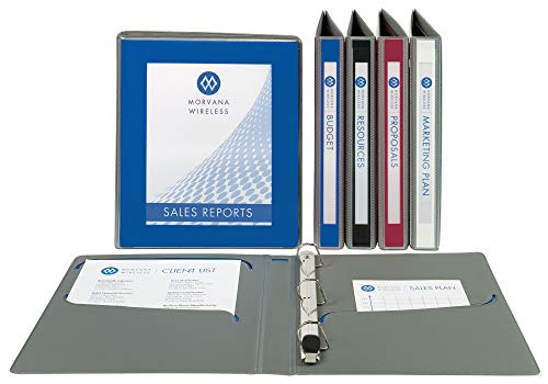 Avery Ultralast Binders, 1 One Touch Slant Ring, Assorted (2 Black, 2 Blue, 1 Red, 1 White), 6 Binders (79728)