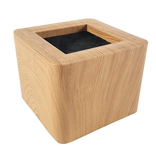 ASPEIKE Neues Upgrade Möbelerhöher Betterhöhung Möbelerhöhung Tischerhöher Elefantenfuß Bed Riser 4St, 8,5cm, Hebt bis zu 3000 kg, (realistischeres Holzgefühl)Holzfarbe