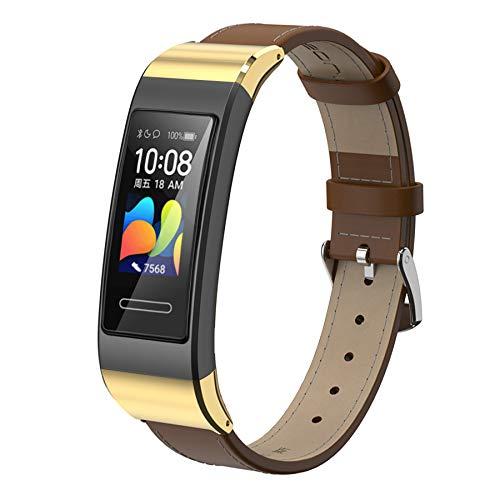 Mijobs Correa de Cuero Compatible con Huawei Band 4pro/Band 3pro/Band 3 Pulsera Reemplazable Correas de Reloj de Recambio para La Piel Pulseras Adecuadas para Huawei Band 3/3pro/4pro