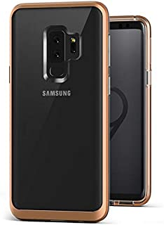 VRS Design [Crystal Bumper] Clear Bumper Case for Samsung Galaxy S9 Plus - Blush Gold