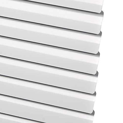 Veneziana Bianca Controllo della Luce, Mini Alluminio Blackout Tenda della Finestra per Arredo Casa/Ufficio, Taglia a Misura (Size : 130×140cm)