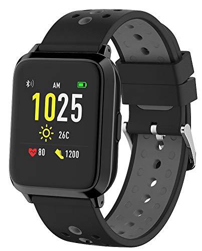 newgen medicals Activity Tracker: GPS-Sportuhr, Always-On-Display, Bluetooth, App, IP68, 1 Mon. Laufzeit (Fitnessarmband mit GPS)