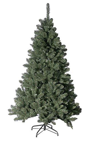 Artplants Árbol de Navidad Artificial Madrid, Soporte de Metal, Verde Oscuro, 150 cm, Ø 80 cm - árbol sintético/Planta Artificial