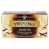 Twinings - Tè nero, gusto sensuale della Vaniglia, Confezione da 25 filtri