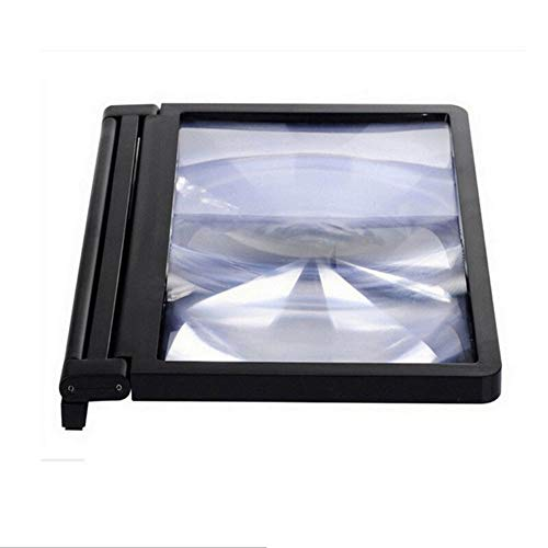 Cestbon Bildschirmverstärker Super Clear Large Screen,3D Vergrößern Bildschirm Vergrößerungsglas,Standplatz Für Handys Halterungen,Schwarz