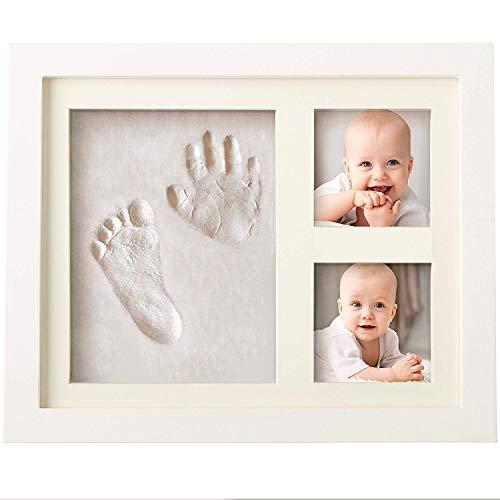 Bubzi Co Set de Marco de fotos y Huellas de bebé en...