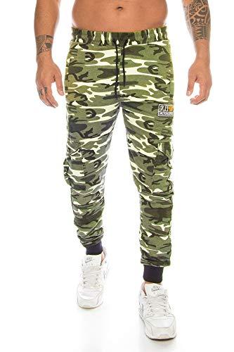 Crazy Age Pantalones de deporte para hombre, de camuflaje, para correr, fútbol, tiempo libre, uso diario verde claro (2003). XXL