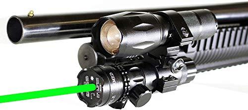 Trinity tactical green sight flashlight fits mossberg 500 835 maverick 88 pump accessories home defense tactical hunting picatinny weaver base adapter Class IIIa 635nM Less Than 5mW, single rail mount