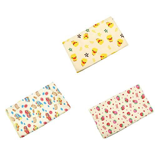 GXWBH Baby Products - Almohadilla para pañales con patrón de dibujos animados, impermeable y transpirable, portátil, para viajes y hogar, 3 paquetes (70 x 120 cm)