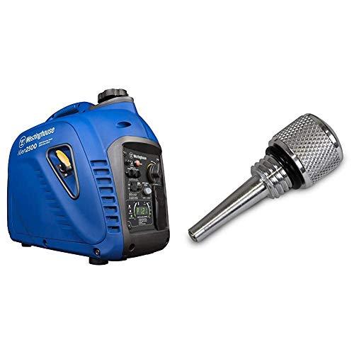 Westinghouse iGen2500 Portable Inverter Generator 2200 Rated & 2500 Peak Watts, Gas Powered & WEN 55201 Magnetic Oil Dipstick for Inverter Generators (compatible with WEN, Yamaha, Predator)