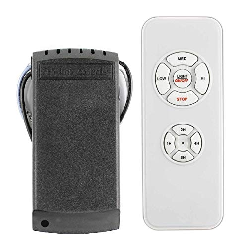 LPHUMEX Universal Ceiling Fan Remote Timing Wireless Control White