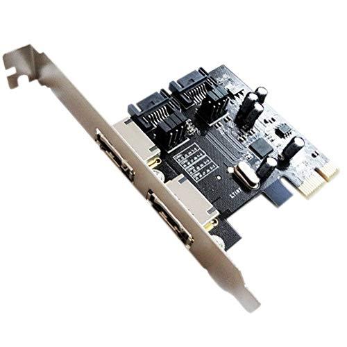 YXZQ Tarjeta Add-On Computer Pci-E for SATA3 Pci E SATA3.0 6 GB/S Ssd Asmedia la Tarjeta de expansión de la viruta Asm1061 Accesorios de Hardware de computadora (Color : Black)