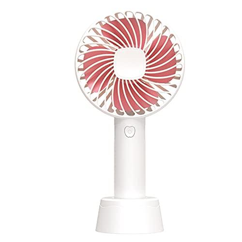 Ventilador de mano, ventilador portátil, función de difusión y flujo de aire potente, carga USB, disponible en el exterior, hogar, oficina (súper tranquilo, hasta 12 horas)(White,106*42*205mm)