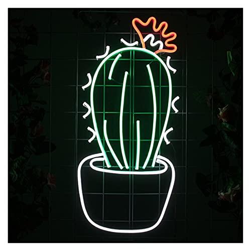 Gn shop Luces de neón Personalizadas Signo de letreros Cactus Dimmable LED Bar de acrílico Decoración de la Pared de la Pared Regalo de Ornamento de Navidad (Size : 55x26cm)